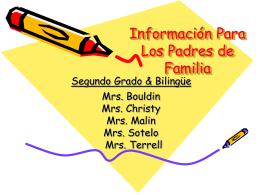 Información para los padres