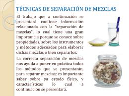 Técnica de separación de mezclas
