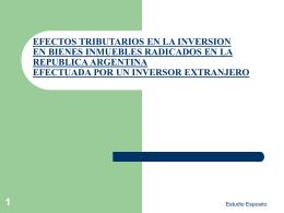 EFECTOS TRIBUTARIOS EN LA INVERSION EN BIENES