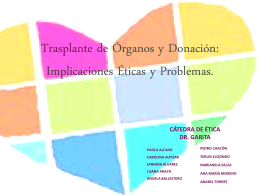 Trasplante de Órganos y Donación: Implicaciones