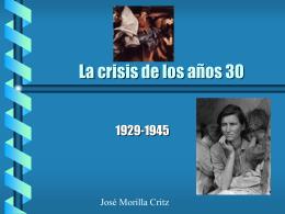 La crisis de los años 30 - Blog de José Morilla