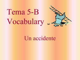Tema 5-B Vocabulary