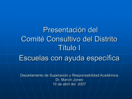 District Advisory Committee Presentation Title I