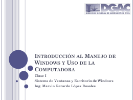 Introducción al Manejo de Windows y Uso de la