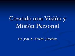 Creando una Visión Personal