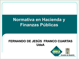 HACIENDA Y FINANZAS PUBLICAS