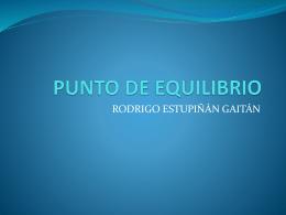 PUNTO DE EQUILIBRIO - casodenegocios