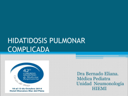 HIDATIDOSIS PULMONAR COMPLICADA