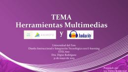 TEMAHerramientasMultimediasy