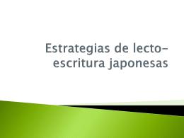 Estrategias de lecto-escritura japonesas