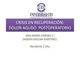 CRISIS EN RECUPERACIÓN