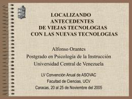 LOCALIZANDO ANTECEDENTES DE VIEJAS TECNOLOGIAS CON