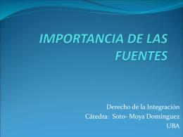 IMPORTANCIA DE LAS FUENTES
