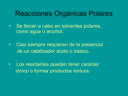Reacciones Orgánicas Polares