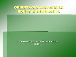 FUNCIONES DEL DEPARTAMENTO DE ORIENTACIÓN: