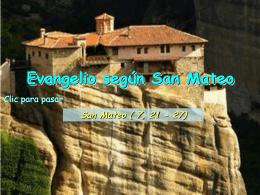 Evangelio San Mateo 7, 21-27