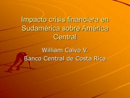 Impacto crisis financiera en Sudamérica sobre