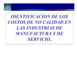 IDENTIFICACION DE LOS COSTOS DE NO CALIDAD EN LAS