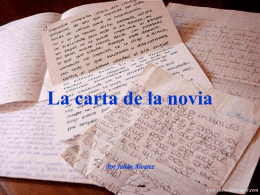La carta de la novia - Recursos educativos,