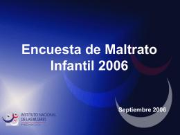 Encuesta de maltrato infantil 2006