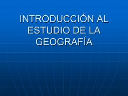 La geografía - profbetzabesevedon