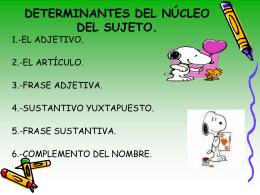 DETERMINANTES DEL NÚCLEO DEL SUJETO.