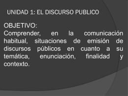 El discurso público - Profe ÁLVARO GARCÍA Lenguaje