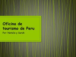 Oficina de tourismo de Peru