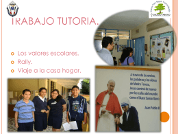 TRABAJO DE TUTORIA