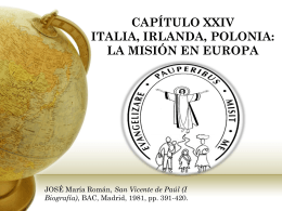 CAPÍTULO XXIV ITALIA, IRLANDA, POLONIA: LA MISIÓN