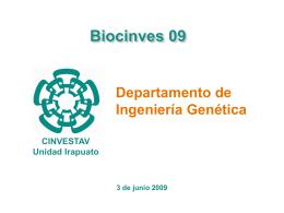 Presentación del Depto de IG - Cinvestav