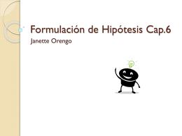 Formulación de Hipótesis Cap.6
