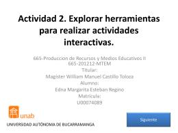 Actividad 2. Explorar herramientas para realizar