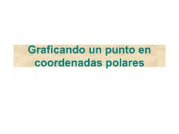 Graficando un punto en coordenadas polares