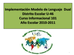 Dual Language 101 & Tools to Support High Quality