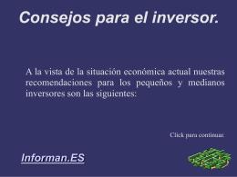 Consejos Economicos.