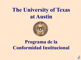 Introduction to UT Compliance Program