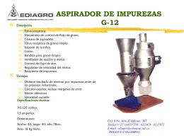 Aspirador de impurezas G-12