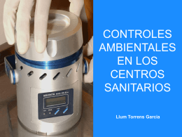 CONTROLS AMBIENTAL ALS CENTRES SANITARIS