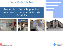 ICS en cifras - Generalitat de Catalunya
