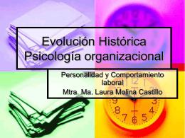 Evolución Historica Psicología organizacional