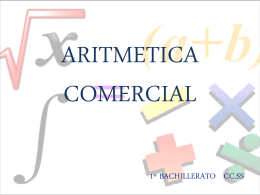 ARITMETICA COMERCIAL