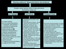 Teorías sobre el descubrimiento de America
