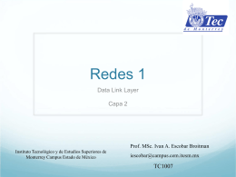 Redes 1 - Homepage of Professor Ivan A. Escobar
