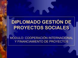 Presentación sobre la Cooperación Internacional