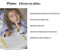 Plomo: Efectos en niños..