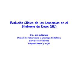 Evolucion clinica de las leucemias en el Sindrome