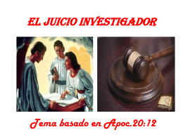 EL JUICIO INVESTIGADOR