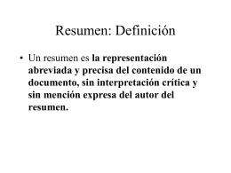 Resumen: Definición
