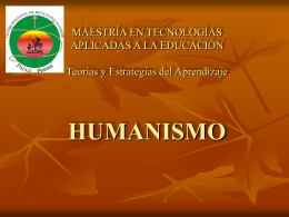 HUMANISMO - Universidad Veracruzana